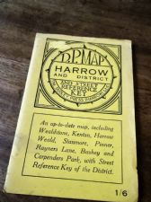 VINTAGE BOOKLET DUDLEY PRESS FOLD MAP & STREET KEY REFERENCE HARROW & DISTRICT